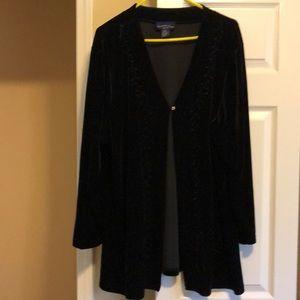 Charter club black velvet cardigan size 3 X